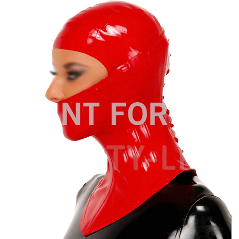 Latex Neck Corset and Hood Fetish Mask Open Eyes Nose Mouth Sexy Unisexy 100% Natural & Handmade new coming