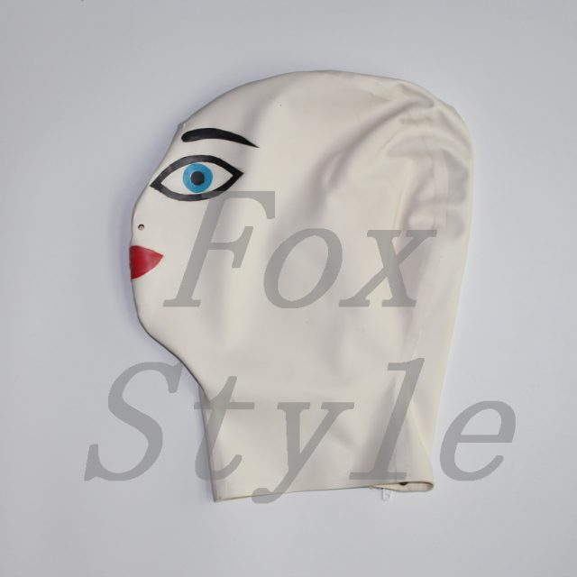 Rubber latex fetish doll mask Special Use>>Cosplay>>Hats