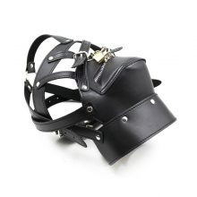 New Sex Leather Headgear Hood Mask In Adult Games Sex Toys For Women Men Fun Couples Toys With Lock Skeleton Zipper mouth hot