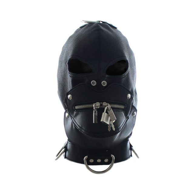 Head Bondage Restraint Hood Mask with Lock Fetish PU Leather Locking  Cosplay Headgear Adult Sex Toys  Sex Products Erotic Toys