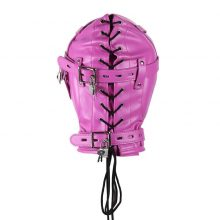 Sexual Sexo Masks Hoods Lock Key Role Play Leather Zipper Erotic Sex Couple Exotic