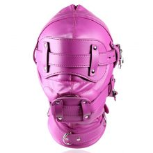 Fetish Pu Leather Harness Bdsm Bondage Totally Enclosed Hood Mask Lock Slave Games Cosplay Festival Rave Couples