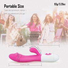 G Spot Dildo Rabbit Vibrator Dual Vibration Silicone Waterproof Female Vagina Clitoris Massager Sex
