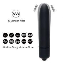 7 Colors 10 Speed Mini Bullet Vibrator Waterproof Clitoris Stimulator Dildo Sex Products