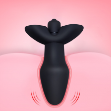 10 Speeds Vibrator Plug Sex Black Medical Silicone Butt Products