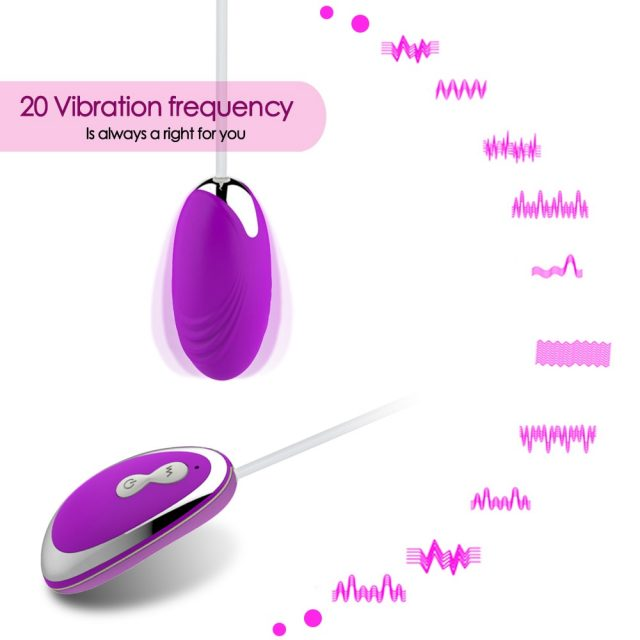Mini 20 Speed Vibrating eggs Silicone Vaginal Tight Stimulation Vibrator exerciser Kegel balls Erotic Toy Sex Adult product