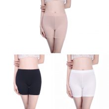 Short Pants Under Skirts For Women Boyshorts Panties Seamless Big Size Ladies Safety Boxer Panties Underwear Black