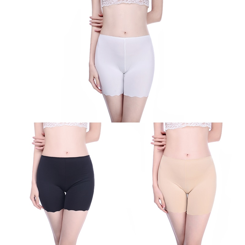 Innsly Safety Short Pants Under Skirts For Women Boyshorts Panties Seamless Big Size Female Safety Boxer Panties Underwear S M L
