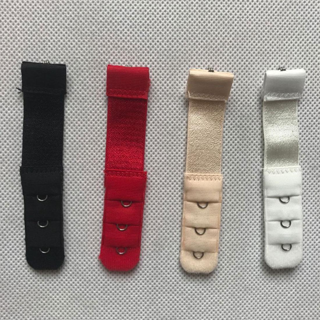 Hot 1pc 1 Rows 3 Hooks Bra Extender Nylon Clasp Extension Elastic On Strap Bra Extenders Adjustable Intimates Accessories