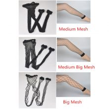 4 Styles Hollow Out Mesh Sexy Stockings Fishnet Tights Pantyhose High Waist Long