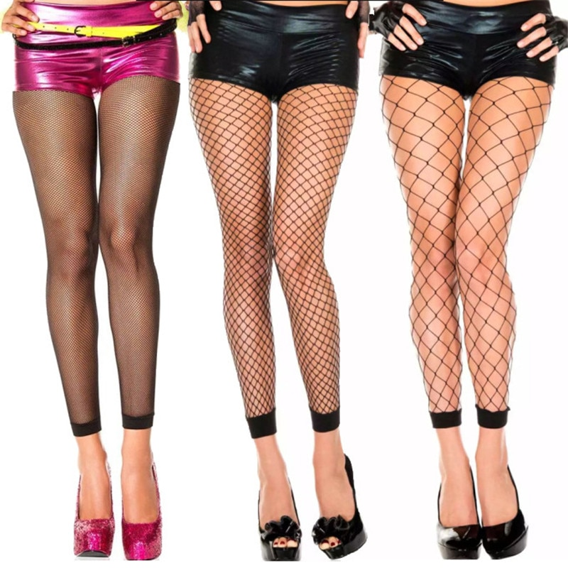 4 Styles Hollow Out Mesh Sexy Stockings Sexy Fishnet Tights Pantyhose For Women Girls High Waist Long Fishnet Stockings