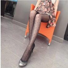 Women's Tights Small Polka Dot Silk Stockingsthin Lady Vintage Faux Tattoo Stockings Pantyhose Female Hosiery